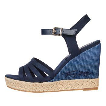 Sandali Alti Donna con Plateau TOMMY HILFIGER linea Gradient High colore Blu