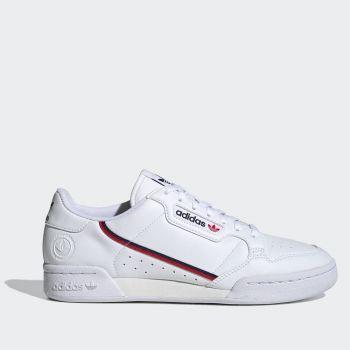 Scarpe Uomo ADIDAS Sneakers linea Continental 80 Vegan Bianco Blu Navy e Rosso