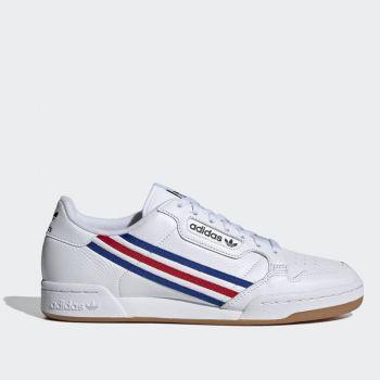 Scarpe Uomo ADIDAS Sneakers linea Continental 80 in Pelle Bianco Royal Blue e Rosso