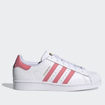 ADIDAS Superstar W Line – White Leather Sneakers with Pink Details