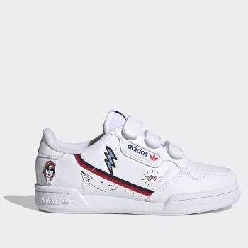 Scarpe Bambino ADIDAS Sneakers con Strappi linea Continental 80 colore Bianco