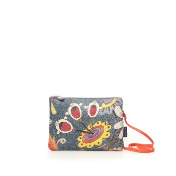 GABS Beyonce Line Small Leather Shoulder Bag with Perline con righe Print