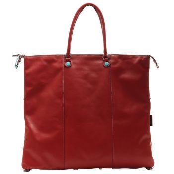 Borsa Donna a Mano con Tracolla GABS G3 Trasformabile in Pelle linea Escudo Rosso XL