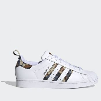 ADIDAS Superstar Line – White Sneakers with colore Camouflage Details