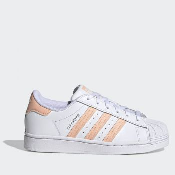 Scarpe Bambino ADIDAS Sneakers linea Superstar C colore Bianco e Corallo