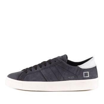 Scarpe Uomo D.A.T.E. Sneakers linea Hill Low Asymmetric in Camoscio Blu