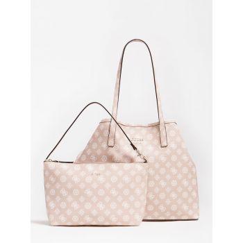 Borsa Shopper a Spalla Donna GUESS Modello Vikky Large Colore Blush