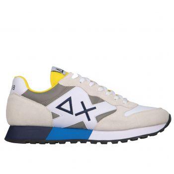 Scarpe Uomo Sun68 Sneakers Jaki Solid Bicolor Bianco