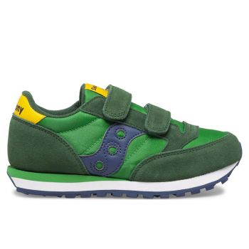 Scarpe Bambino Saucony Sneakers Jazz Double Hook & Look Kids Green - Yellow - Blue
