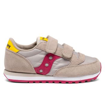 Scarpe Bambina Saucony Sneakers Jazz Double HL Kids Taupe - Burgundy