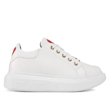 Scarpe Donna LOVE MOSCHINO Sneakers in Pelle Bianca