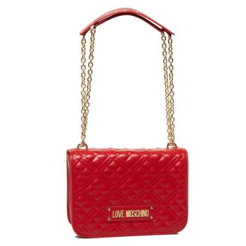 Borsa Donna a Spalla LOVE MOSCHINO linea Quilted Rosso