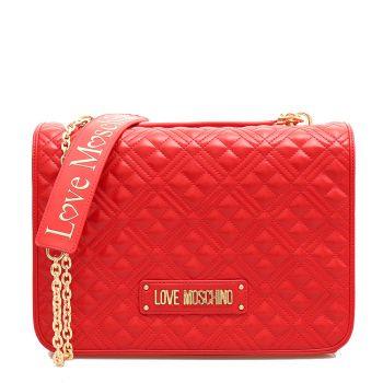 Borsa Donna Doppia Portabilità LOVE MOSCHINO Linea New Shiny Quilted Rossa