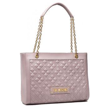 Borsa Donna Shopping Bag LOVE MOSCHINO linea Shiny Quilted colore Grigio