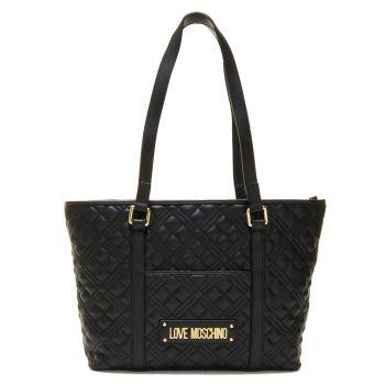Borsa Donna Shopping a Spalla LOVE MOSCHINO linea Shiny Quilted colore Nero
