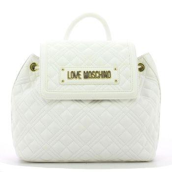 Zaino LOVE MOSCHINO linea New Shiny Quilted Bianco