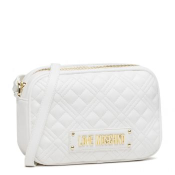 Borsa a Tracolla LOVE MOSCHINO linea New Shiny Quilted Bianco