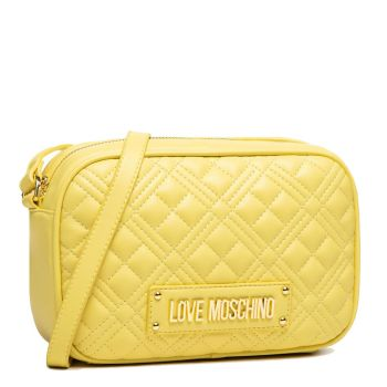 Borsa a Tracolla LOVE MOSCHINO linea New Shiny Quilted Giallo
