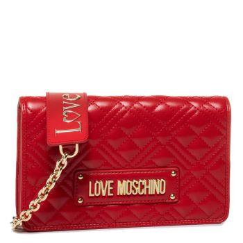 Borsa Donna a Tracolla con Pattina LOVE MOSCHINO linea Quilted Rosso