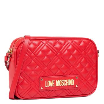 Borsa a Tracolla LOVE MOSCHINO linea New Shiny Quilted Rosso