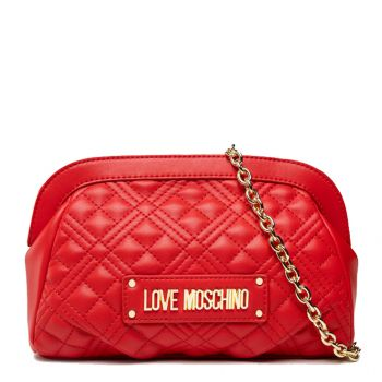 Borsa Donna Clutch con Tracolla LOVE MOSCHINO linea Lettering Logo Rosso