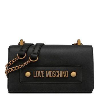 Borsa Donna a Spalla e Tracolla LOVE MOSCHINO linea Lettering Love Nero