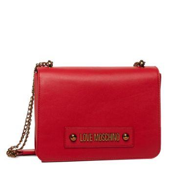 Borsa Donna a Tracolla con Pattina LOVE MOSCHINO linea Lettering Love Rosso