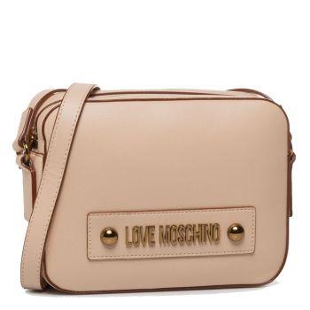 Borsa Donna a Tracolla con Zip LOVE MOSCHINO linea Lettering Love colore Naturale