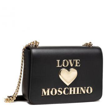 Borsa Donna a Spalla e a Tracolla LOVE MOSCHINO linea Shiny Padded Heart Nero