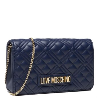 Clutch Donna con Tracolla LOVE MOSCHINO linea New Shiny Quilted colore Navy