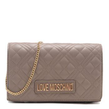 Clutch Donna con Tracolla LOVE MOSCHINO linea New Shiny Quilted colore Grigio