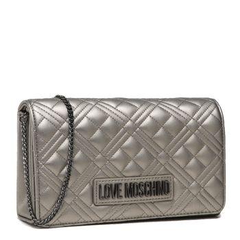 Clutch Donna con Tracolla LOVE MOSCHINO linea New Shiny Quilted colore Fucile