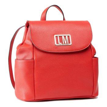 Zaino con Pattina LOVE MOSCHINO con Logo LM Rosso