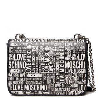 Borsa Donna a Spalla e Tracolla LOVE MOSCHINO linea Allover Logo colore Nero