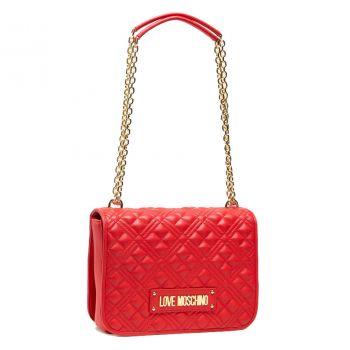Borsa Donna a Spalla e Tracolla LOVE MOSCHINO linea New Shiny Quilted Rosso