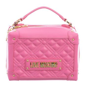 LOVE MOSCHINO Pink Handle Bag with Quilted Effect