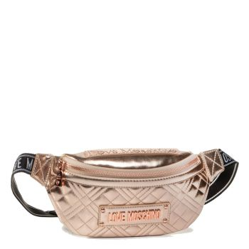 Marsupio Donna LOVE MOSCHINO linea Quilted Effetto Trapuntato Color Rame