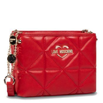 Borsa Donna a Tracolla LOVE MOSCHINO linea Jewel Straps Rosso