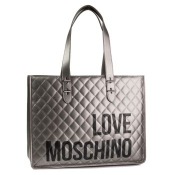 Borsa Donna Shopper a Spalla LOVE MOSCHINO linea I Love Shopping Canna di Fucile