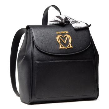 Zaino Donna LOVE MOSCHINO con Logo e Foulard colore Nero