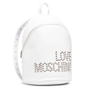 Zaino Donna LOVE MOSCHINO Bianco con Logo Borchiato