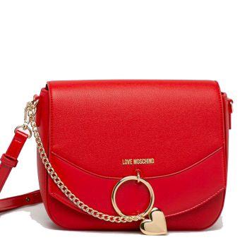 Borsa Donna a Spalla LOVE MOSCHINO linea Love Charm colore Rosso