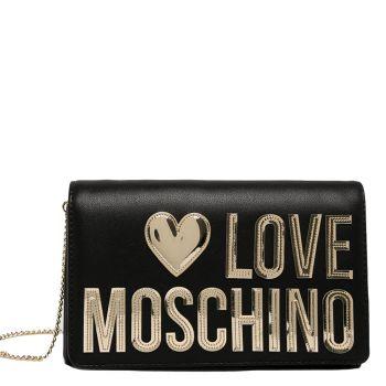 Borsa Donna con Tracolla a Catena LOVE MOSCHINO linea Evening Bag Nera