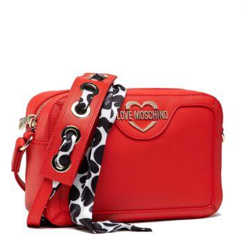 Borsa Donna a Tracolla LOVE MOSCHINO linea Logo Scarf colore Rosso