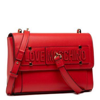 Borsa Donna a Spalla LOVE MOSCHINO Rossa con Borchiette