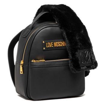 Zaino Donna LOVE MOSCHINO linea Furry Scarf colore Nero