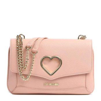 Borsa Donna a Spalla LOVE MOSCHINO linea Cut-Out Heart colore Rosa