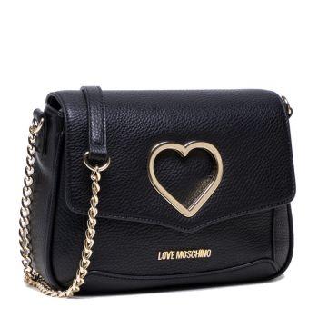 Borsa Donna a Tracolla LOVE MOSCHINO linea Cut-Out Heart colore Nero