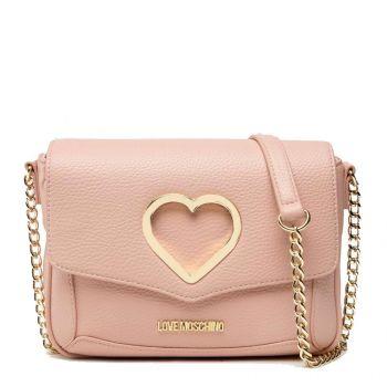 Borsa Donna a Tracolla LOVE MOSCHINO linea Cut-Out Heart colore Rosa