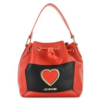 Borsa Donna a Secchiello LOVE MOSCHINO linea Cut-Out Heart colore Rosso